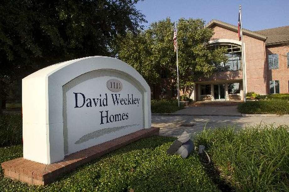 The local office of Houston-based David Weekley Homes. Photo: Brett Coomer / ONLINE_YES