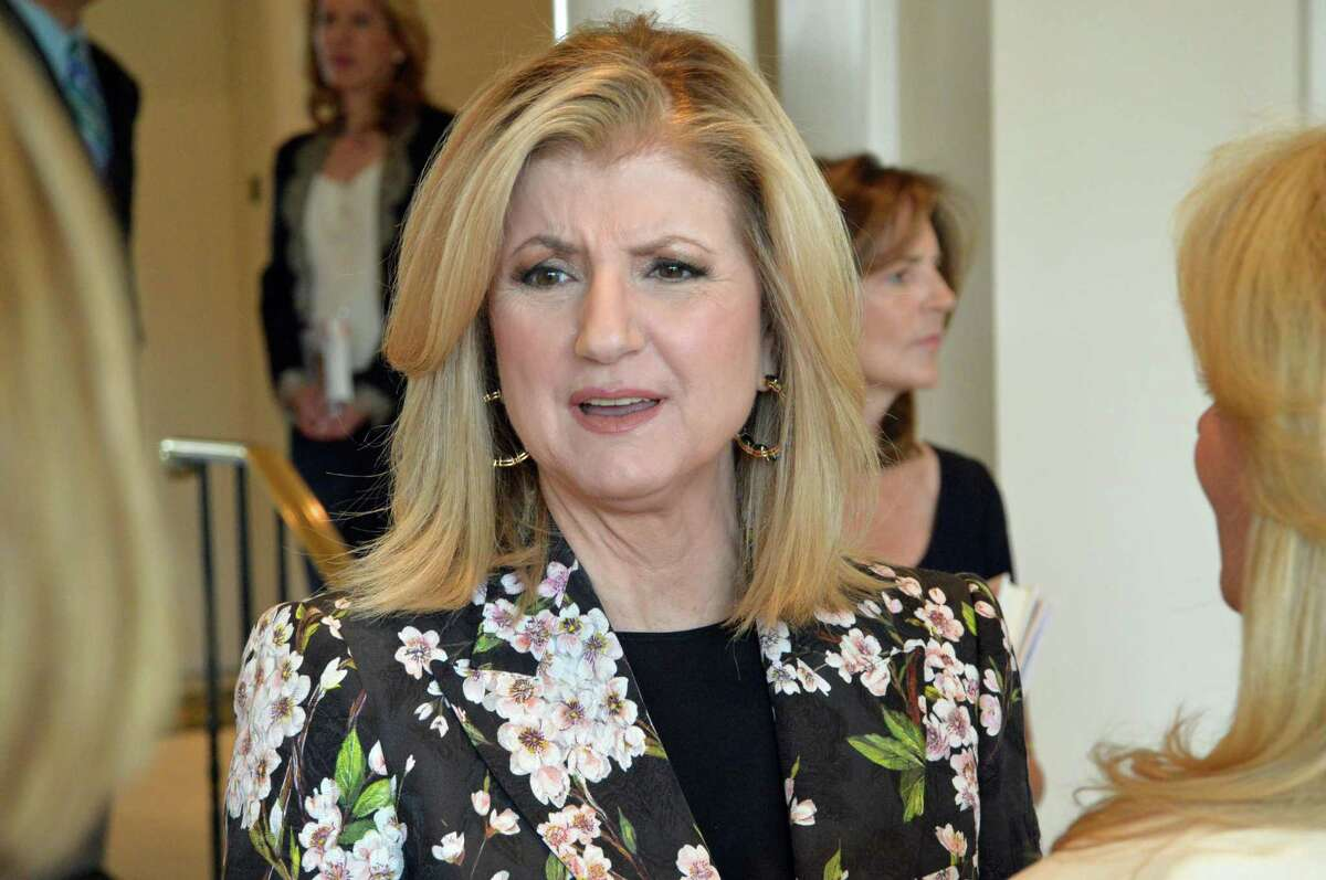 Arianna Huffington, the founder and editor in chief of the Huffington Post, was the guest speaker at the Center for HOPE's annual fundraising luncheon Wednesday, April 23, at the Woodway Country Club in Darien. Jarret Liotta/For the Darien News