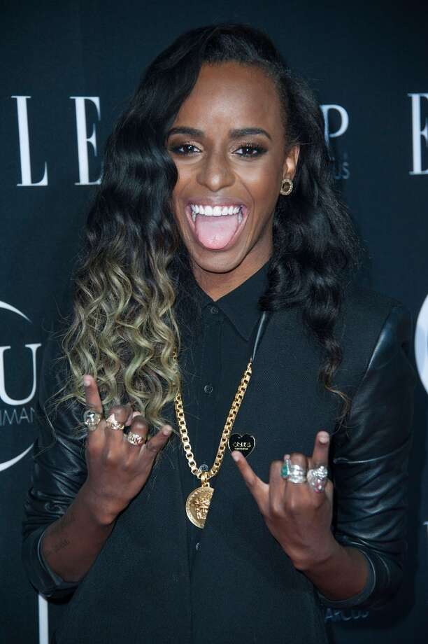 Recording artist Angel Haze arrives at ELLE's 5th Annual Women In Music Concert Celebration Presented by CUSP By Neiman Marcus  at Avalon on April 22, 2014 in Hollywood, California. Photo: Valerie Macon, Getty Images