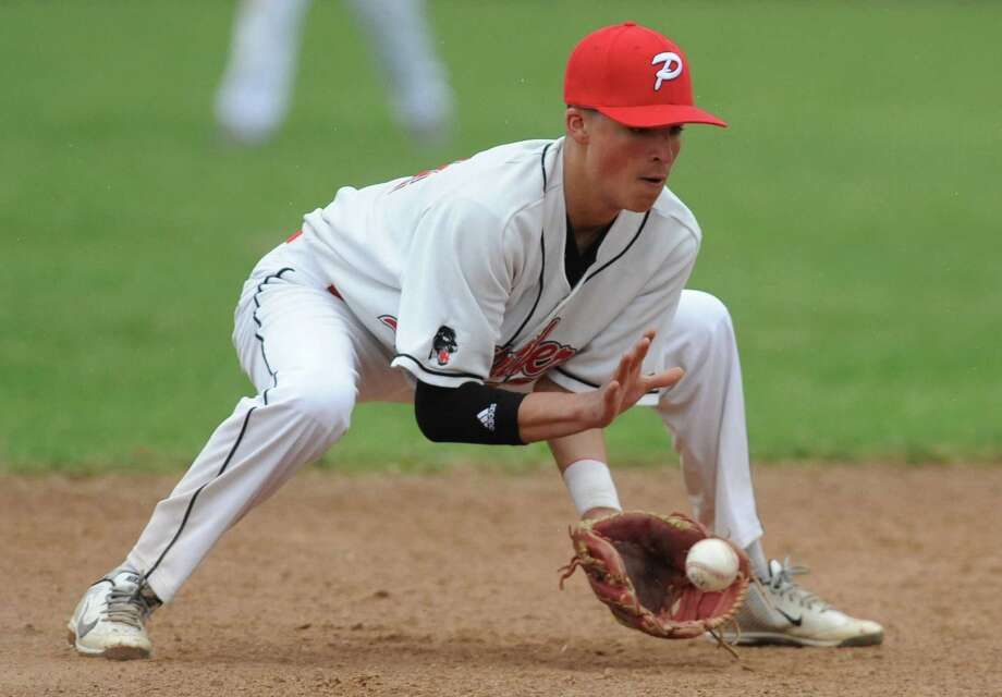 Photos from Bunnell's win over Pomperaug in the high school baseball game at Pomperaug High School in Southbury, Conn. Tuesday, April 22, 2014. Photo: Tyler Sizemore / The News-Times