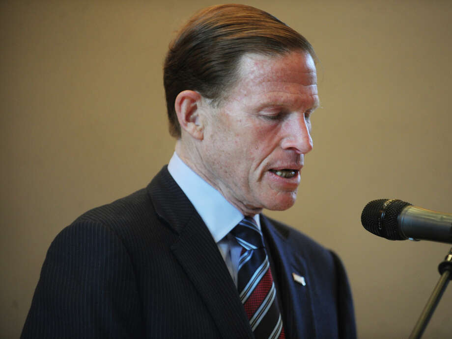 Sen. Richard Blumenthal. The ceremony commemorating the 27th anniversary of the L'Ambiance Plaza collapse at City Hall in Bridgeport, Conn. on Wednesday, April 23, 2014. Photo: Brian A. Pounds / Connecticut Post