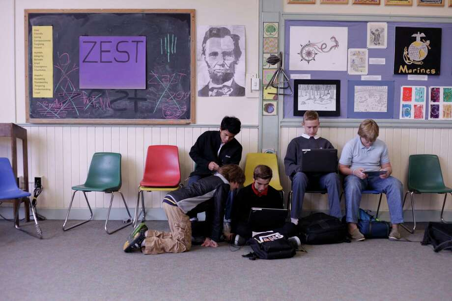 "An undated handout photo of students at the Greenwood School in Putney, Vt., in ""The Address,"" a documentary by Ken Burns (""The Civil War""), on PBS. Burns' documentary, airing on Tuesday, April 15, 2014, captures schoolboys with learning problems as they face the challenge of memorizing Lincoln's Gettysburg Address. (Lindsay Taylor Jackson/Florentime Films via The New York Times) -- NO SALES; FOR EDITORIAL USE ONLY WITH STORY SLUGGED TV ADDRESS REVIEW. ALL OTHER USE PROHIBITED. ORG XMIT: XNYT91 Photo: LINDSAY TAYLOR JACKSON / FLORENTIME FILMS"