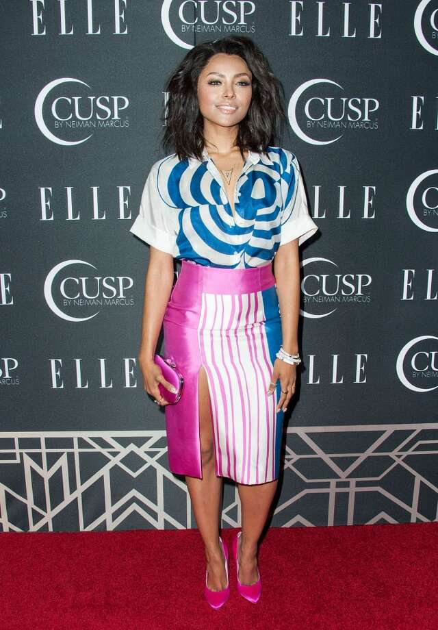 Actress Kat Graham arrives at ELLE's 5th Annual Women In Music Concert Celebration Presented by CUSP By Neiman Marcus  at Avalon on April 22, 2014 in Hollywood, California. Photo: Valerie Macon, Getty Images