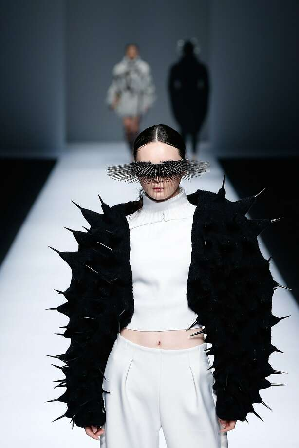 The Sea Urchin:Sharp jacket! (China Graduate Fashion Week in Beijing.) Photo: Lintao Zhang, Getty Images