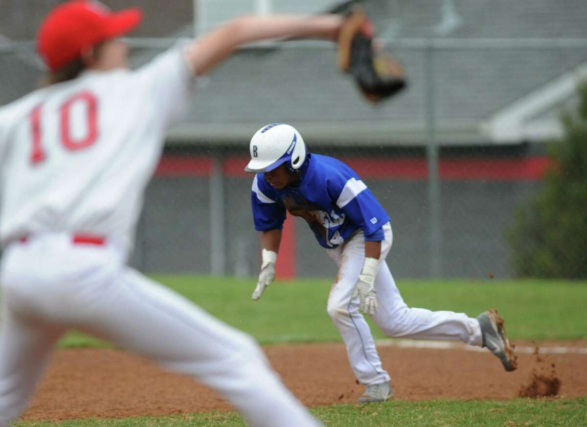 Photos from Bunnell's win over Pomperaug in the high school baseball game at Pomperaug High School in Southbury, Conn. Tuesday, April 22, 2014.