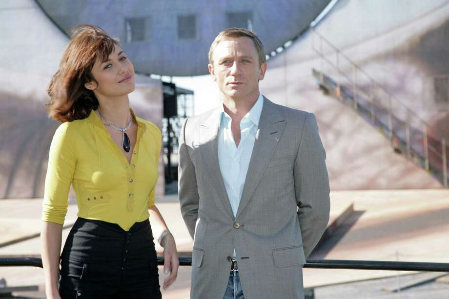 """Olga Kurylenko's movie break-through role was as Bond girl Camille in """"Quantum of Solace"""" with Daniel Craig in 2008.  Photo: Getty Images / 2008 Getty Images"""