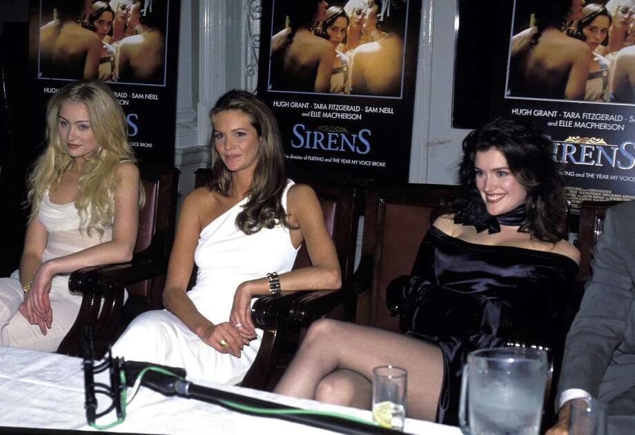 "Elle MacPherson, center, starred in the movie ""Sirens"" in 1994, with Portia de Rossi, left, and Kate Fischer. Critics thought she wasn't bad, but she went on to create a career in fashion design.  Photo: Patrick Riviere, Getty Images / 1994 Getty Images"