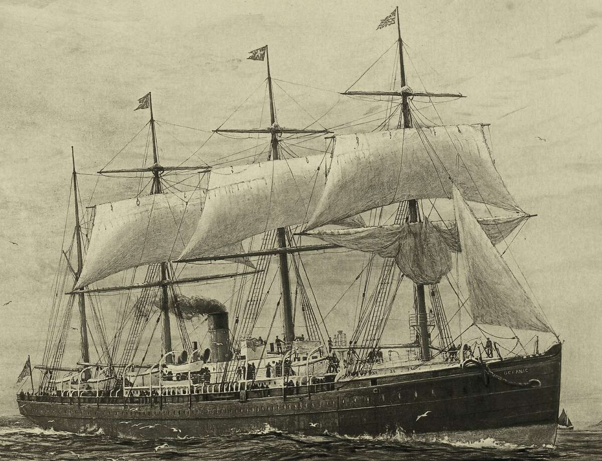 A painting of the Oceanic, which hit the City of Chester.