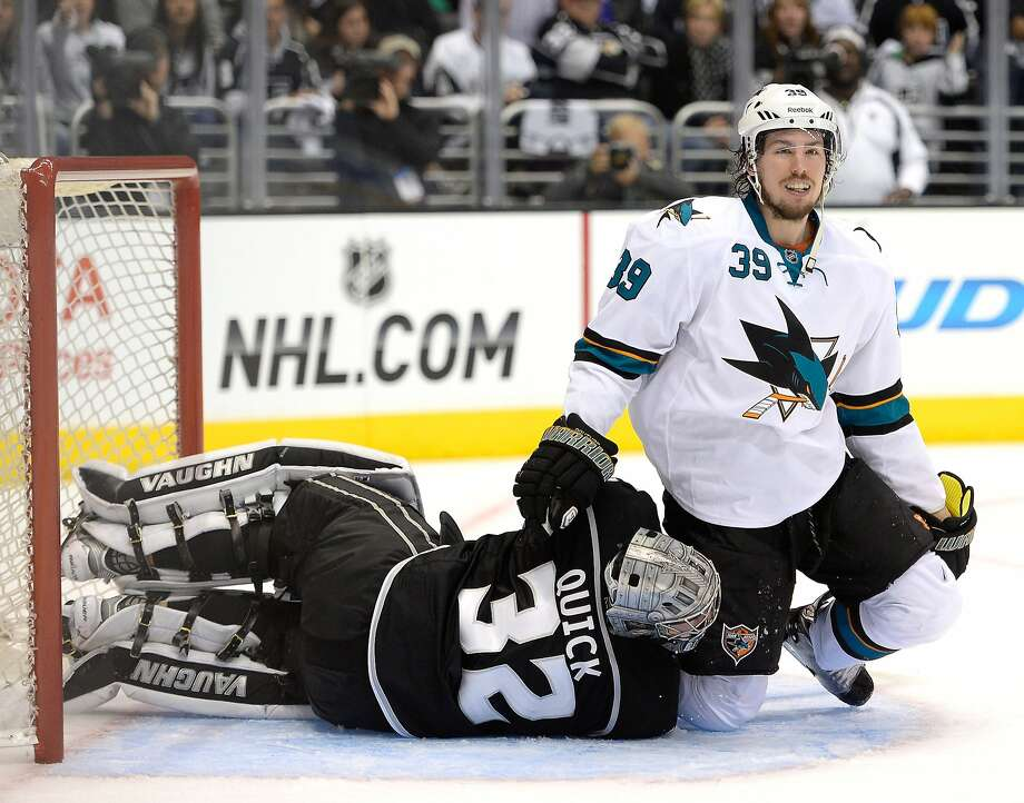 Logan Couture (39) said the team knows from experience what it needs to do up 3-0. In 2011, the Sharks let the Red Wings force Game 7 in the conference semis, and the long series probably played a role in losing the conference finals in five games. Photo: Harry How, Getty Images