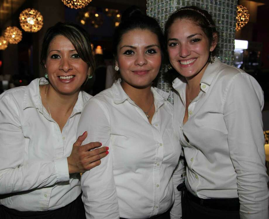Celi Cisneros (from left), Sarali Lopez and Karenna Reyna Photo: Photos By Xelina Flores / For The Express-News / For the Express News