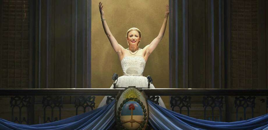 """Caroline Bowman is Evita Perón in the national tour of """"Evita"""" in 2013. Bowman researched Perón and found her voice to be """"not very pleasant."""" Photo: Courtesy Richard Termine / © 2013 Richard Termine"""