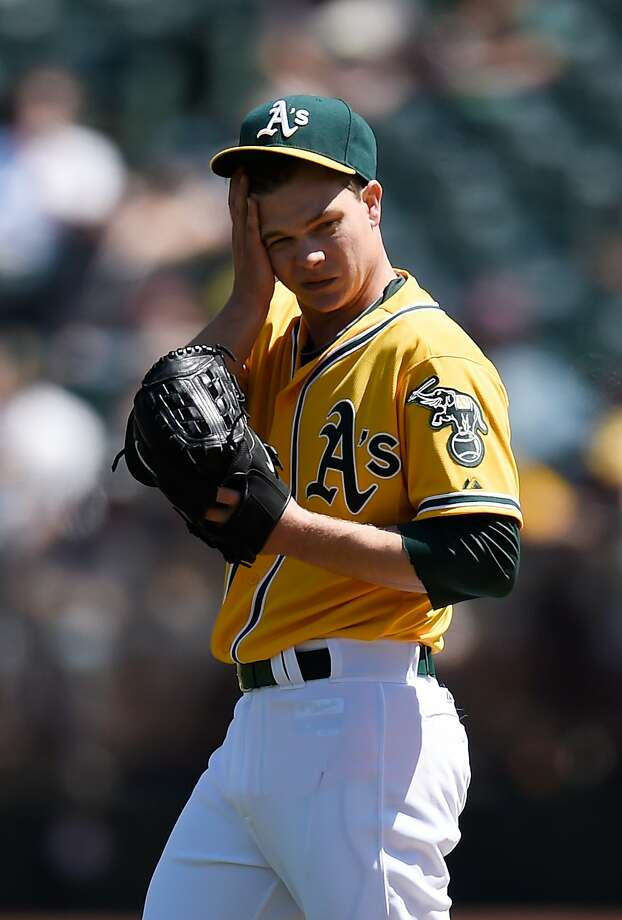 Sonny Gray struck out eight in seven innings, but allowed his first homer of 2014. Photo: Thearon W. Henderson, Getty Images