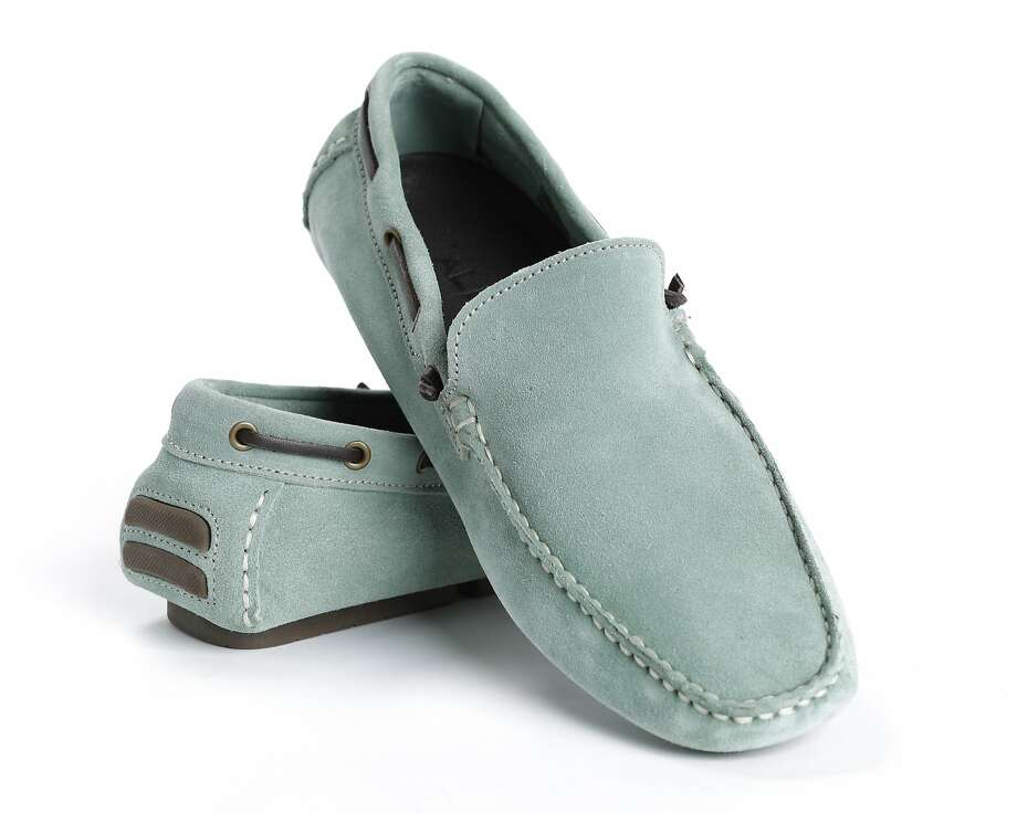 Mint green suede men's loafers lend a soft pastel accent to any outfit and a subtle nubbiness for extra interest at a pocket- friendly price.   $100, Aldo stores and  www.aldo.com. Photo: Russell Yip, The Chronicle