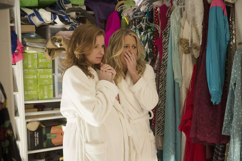 "PLAYING HOUSE -- ""Bird Bones"" Episode 102 -- Pictured: (l-r) Lennon Parham as Maggie Caruso, Jessica St. Claire as Emma Crawford Photo: Neil Jacobs, USA Network"