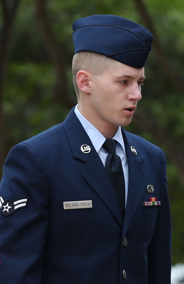 Airman 1st Class Nathan Wilson-Crow has pleaded guilty to sexual misconduct counts but is fighting charges of raping a woman. Photo: Jerry Lara / San Antonio Express-News / © 2014 San Antonio Express-News