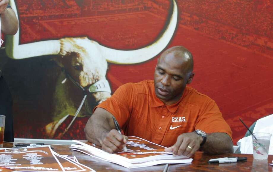 "UT coach Charlie Strong is visiting 12 cities around the state in a 30-day period as part of the ""Comin' On Strong Tour."" Wednesday's stop was in Houston. Photo: Rodger Mallison, MBR / Fort Worth Star-Telegram"