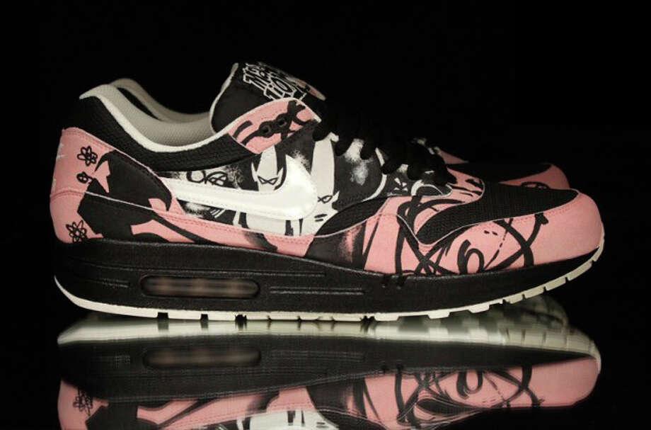 Sneaker customizer Jake Danklefs shows his favorite creations Photo: Courtesy Photos, Jake Danklefs