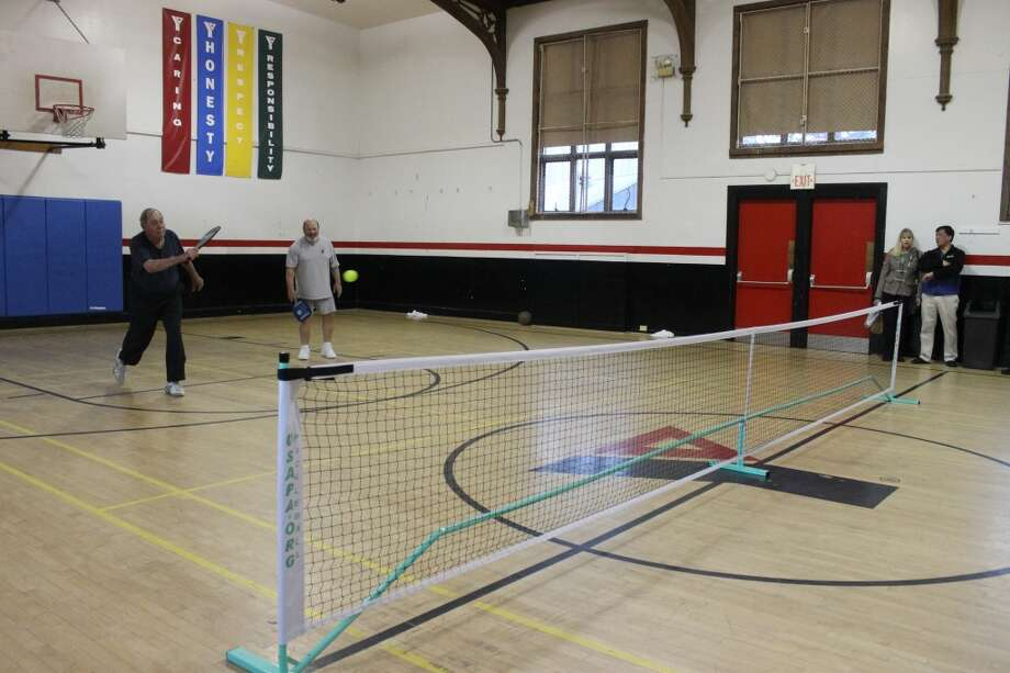 Ridgefield Senior Center Members tried a new sport, pickleball, on Sept. 9, 2010 the Ridgefield Recreation Gym. | File Photo