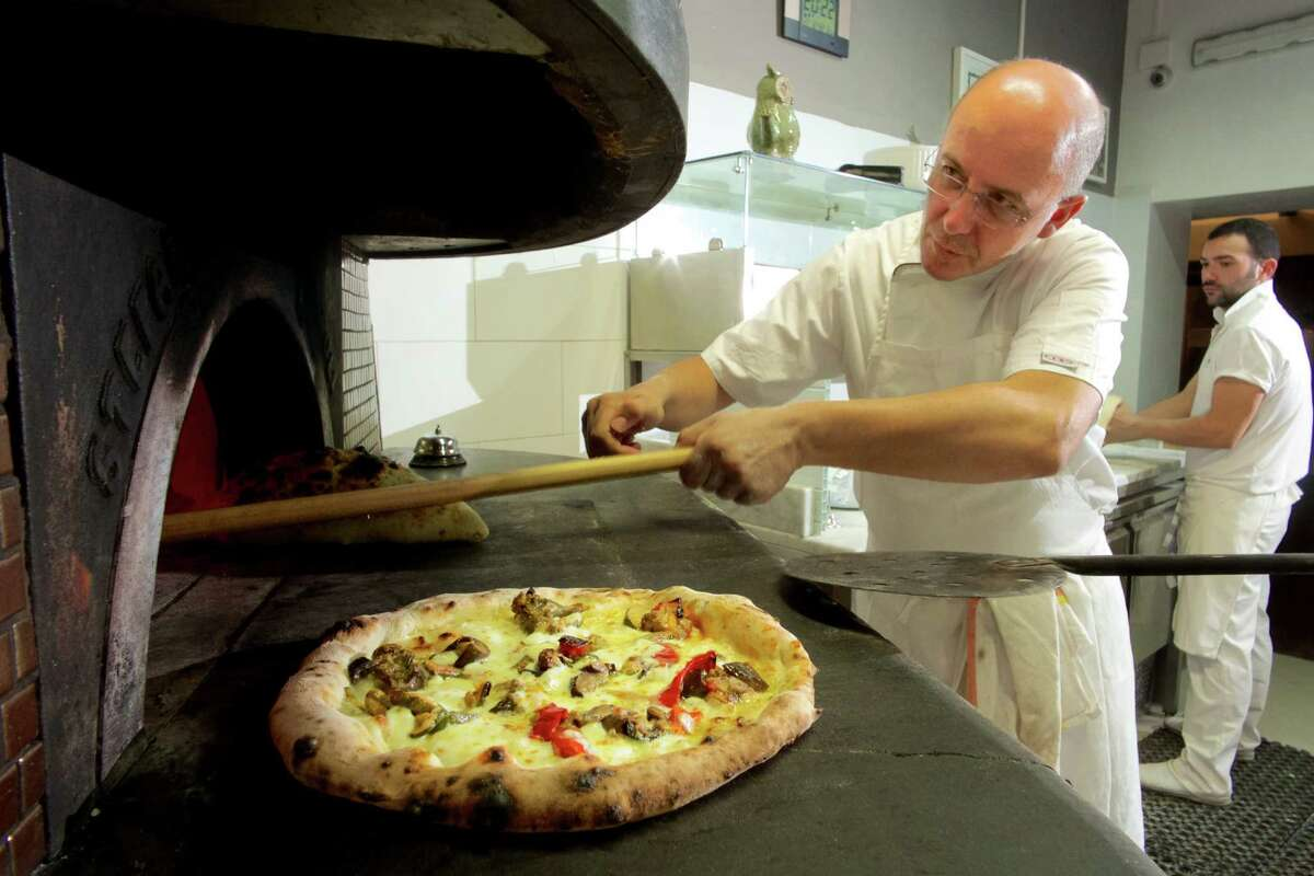 Franco Pepe runs the kitchen of the 18-month-old pizzeria Pepe in Grani in Naples.