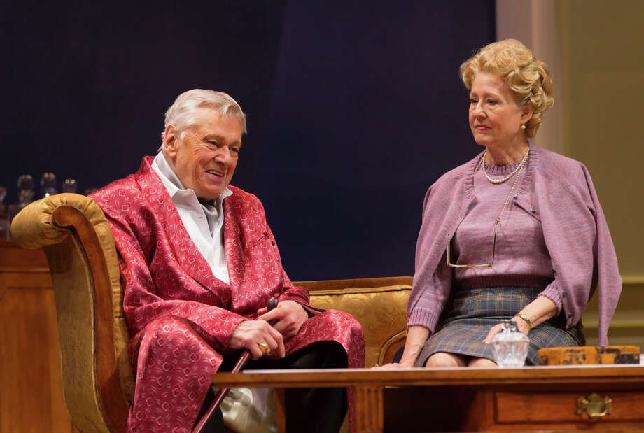 """Broadway veterans Brian Murray and Mia Dillon rehearse a scene in the Westport Country Playhouse production of Noel Coward's """"A Song at Twilight."""" The play opens on Tuesday eveninig, April 29, kicking off the Playhouse's 2014 season. Photo: Westport News/Contributed Photo / Westport News"""