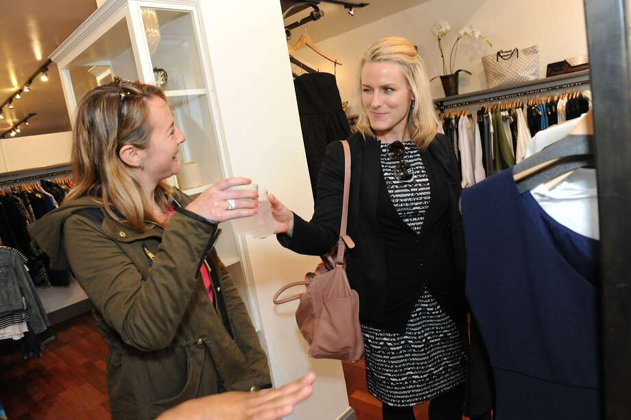 Bay Area boutiques, including HeidiSays Collections, participated in Style Celebrations in honor of the Chronicle's new Style section on April 23, 2014. From left are Melissa Carson and Carlotta Duncan. Photo: Susana Bates, Special To The Chronicle