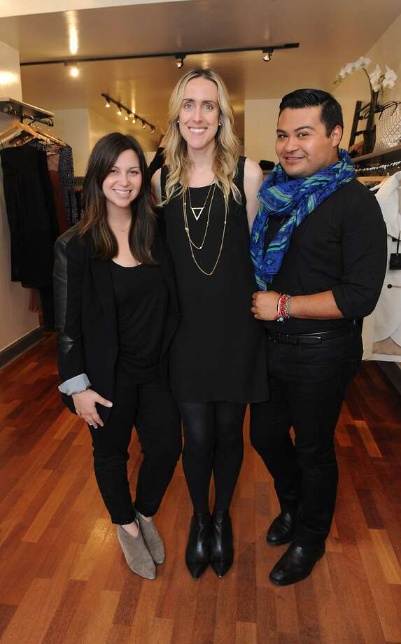 Bay Area boutiques, including HeidiSays Collections, participated in Style Celebrations in honor of the new Style section in the SF Chronicle on April 23, 2014. From left are Katie Conway, Christina Laetz, and Tony Rodriguez. Photo: Susana Bates, Special To The Chronicle