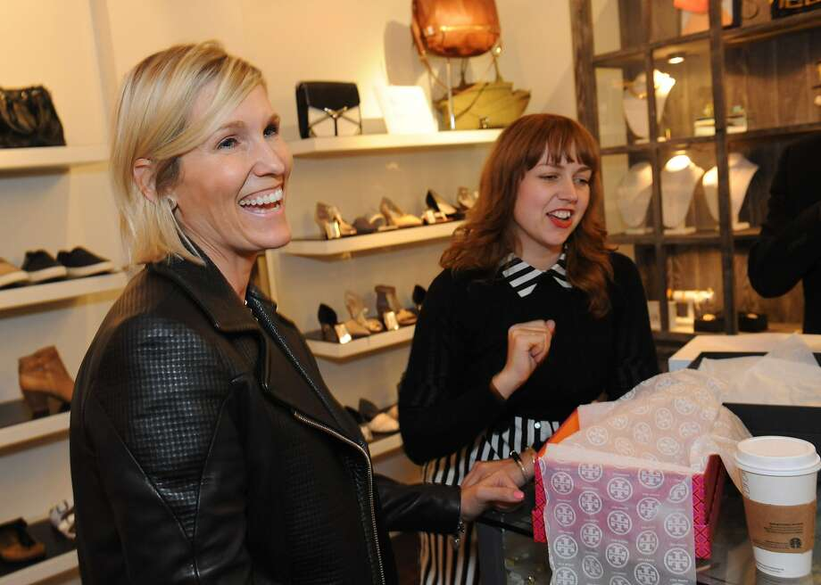 Bay Area boutiques, including HeidiSays Shoes, participated in Style Celebrations in honor of the new Style section in the SF Chronicle on April 23, 2014. From left are Heidi Sabelhaus Myers and Dani Agnew. Photo: Susana Bates, Special To The Chronicle