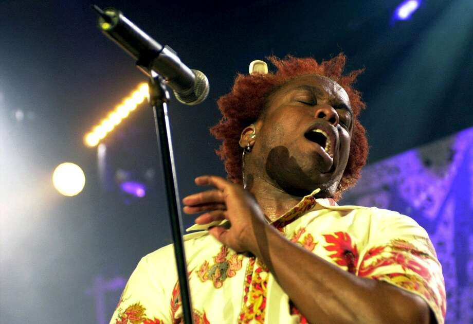 American singer Corey Glover performs with his band Living Colour on the Stravinski Hall stage during the 'Hip Rock Night' of the 35th Montreux Jazz Festival in Montreux, Switzerland, late Friday, July 20, 2001. (AP Photo/Keystone/Andree-Noelle Pot) ORG XMIT: MER2014042413024849 Photo: ANDREE NOELLE POT / KEYSTONE