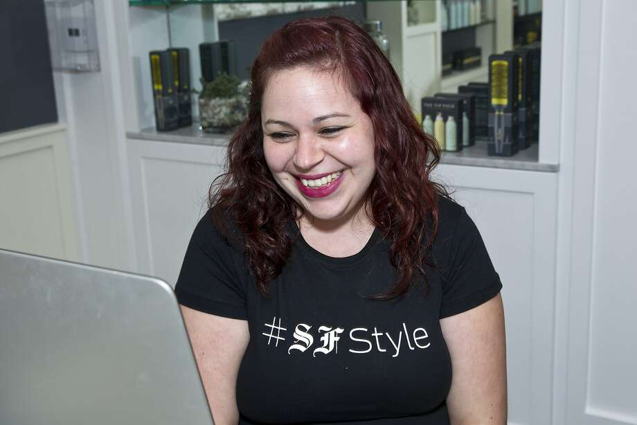 Ashley Infante works behind the desk at Drybar during a Style Launch event to celebrate the San Francisco Chronicle's newly reimagined Style section at the salon in San Francisco, Calif., on Wednesday, April 23, 2014. Photo: Laura Morton, Special To The Chronicle