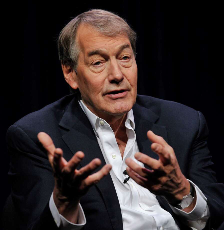 "Charlie Rose, journalist: Time credits him as ""the broadcast journalist who disarms the powerful."" Photo: Chris Pizzello, INVL / Invision"