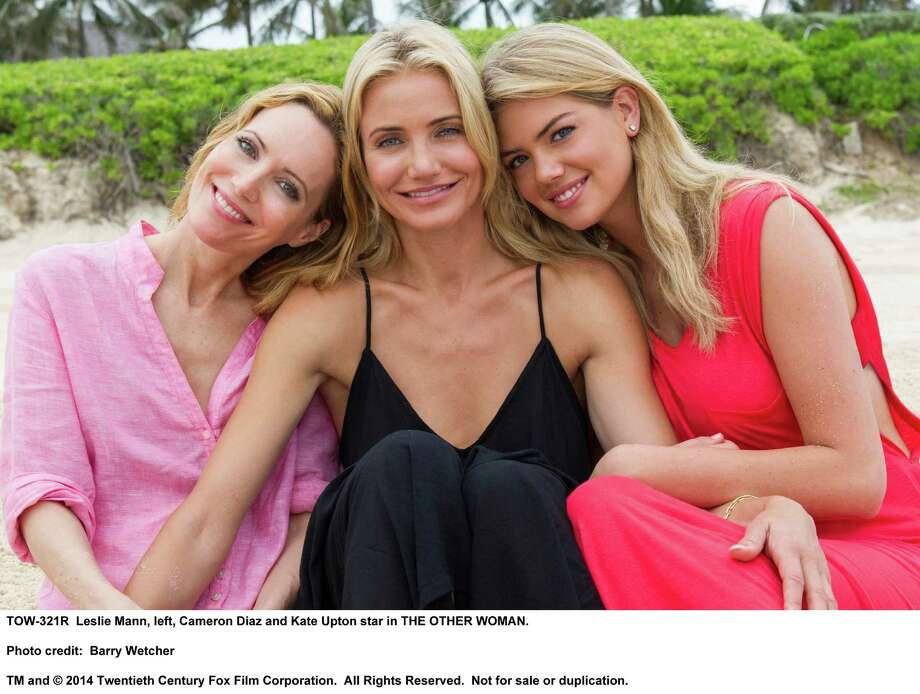 Leslie Mann, left, Cameron Diaz and Kate Upton star in THE OTHER WOMAN Photo: Barry Wetcher / TM and © 2014 Twentieth Century Fox Film Corporation. All Rights Reserved. Not for sale or duplication.