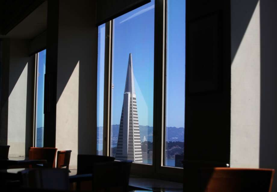 The Transamerica Pyramid is seen from the Top of the Mark restaurant. Who wouldn't want to be proposed to overlooking that view? Go to propose; stay for the martinis. Photo: Pete Kiehart, The Chronicle