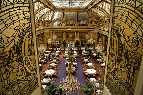 """The Garden Court at the Palace Hotel in San Francisco has one of the most beautiful domes on the West Coast.  The 100+-year-old hotel space is very special to San Francisco history: maybe it will be special to you and your intended? """"I was proposed to at the Palace"""" has such a ring to it."""