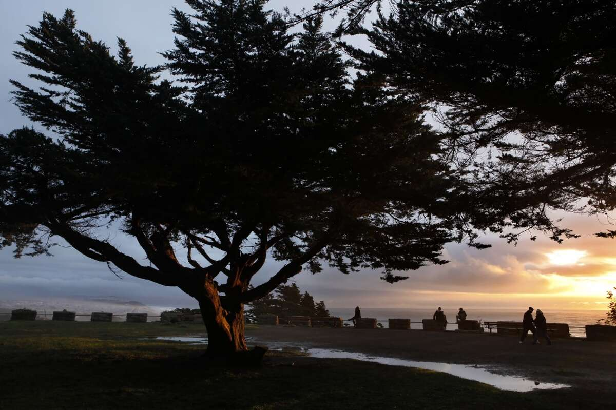 Sutro Heights Park This historic park is located in Outer Richmond, right above the Cliff House with views of the Pacific Ocean. After picnicking in the gardens make sure to stay around for a view of the spectacular sunset.