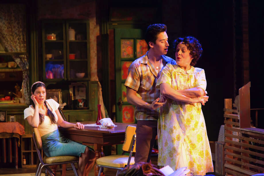 "Playwright Matthew Lopez drew on family stories from the late 1950s in his new play ""Somewhere"" which features his Tony Award-winning aunt Priscilla Lopez (right) along with Jessica Naimy and Michael Rosen. The show runs through May 4 at Hartford Stage. Photo: Contributed Photo / Connecticut Post"
