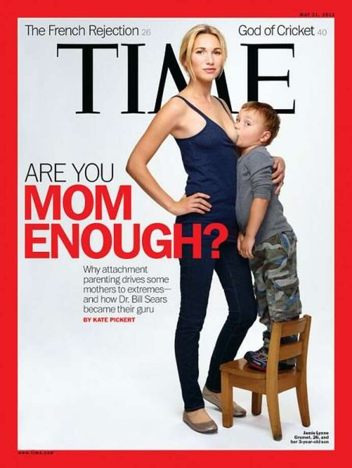 Is breastfeeding a 3-year-old freakish or natural? That's what people across America were asking in May 2012 when 'Time' magazine featured 26-year-old Jamie Lynne Grumet breastfeeding her son who looks old enough to pour himself a glass of milk. Photo: Time