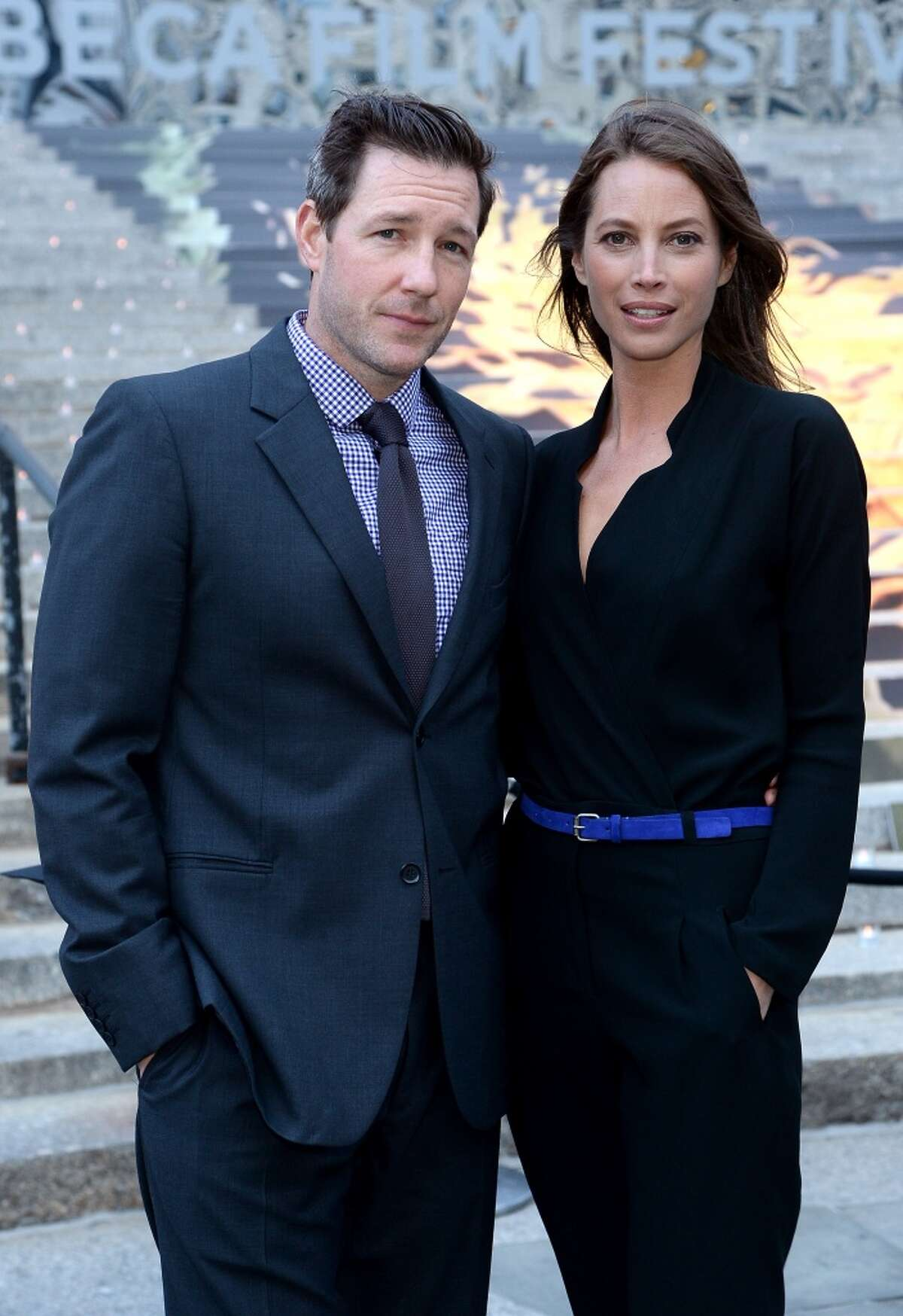 Supermodel Christy Turlington met actor Edwards Burns in 2000. The couple married on June 7, 2003 in St. Peter and Paul's Catholic Church in San Francisco.