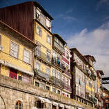 The Beautiful Ribeira along Douro River (Porto, Portugal)