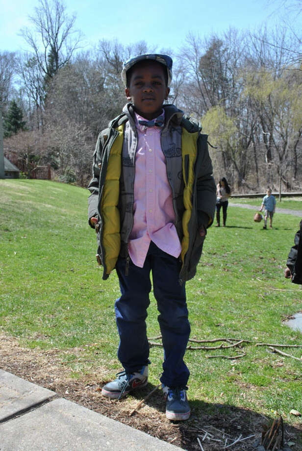 Jermar Richardson of Brooklyn, N.Y. at The New Canaan Nature Center's annual Great Egg Hunt and Spring Celebration on Saturday, April 19. Photo: Lauren Stevens/Hearst Newspapers / Connecticut Post