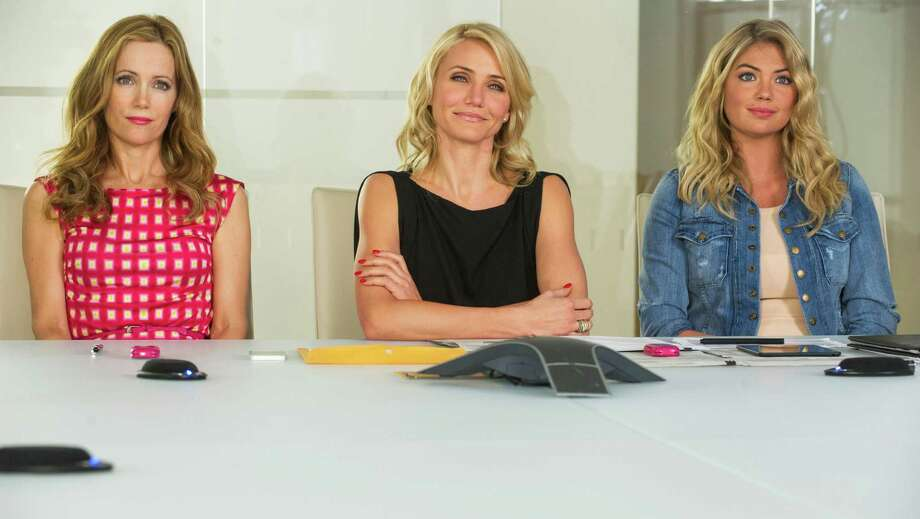"""This image released by 20th Century Fox shows Leslie Mann, from left, Cameron Diaz and Kate Upton in a scene from """"The Other Woman."""" (AP Photo/20th Century Fox, Barry Wetcher) ORG XMIT: NYET556 Photo: Barry Wetcher / 20th Century Fox"""