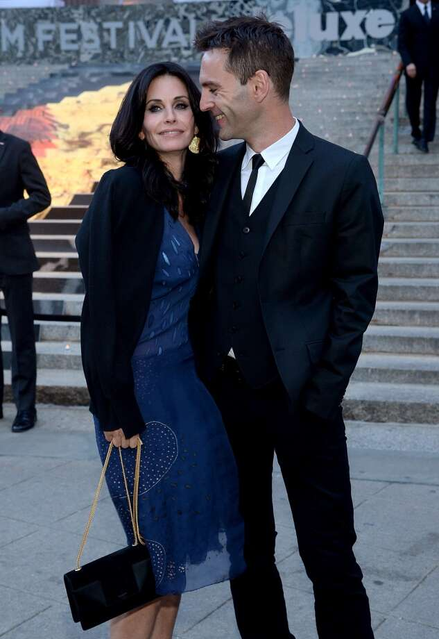 Courteney Cox and Johnny McDaid attend the Vanity Fair Party during the 2014 Tribeca Film Festival at the State Supreme Courthouse on April 23, 2014 in New York City. Photo: Jamie McCarthy, Getty Images For The 2014 Tribeca Film Festival