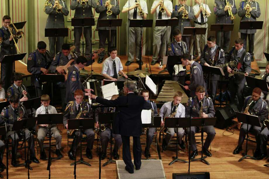 The La Salle Institute's Cadet Blues Jazz Ensemble performs. (Andrew Santandera)