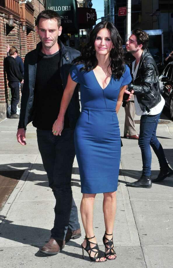 Courteney Cox on April 21, 2014 with Johnny McDaid in New York.  Photo: Patricia Schlein/Star Max, Getty Images / 2014 Star Max
