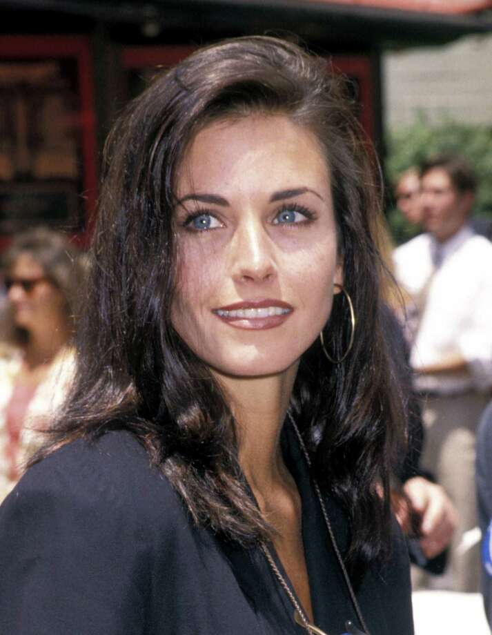 Courteney Cox, 1992 at Mann's Chinese Theater in Hollywood.  Photo: Ron Galella, Ltd., Getty Images / Ron Galella Collection