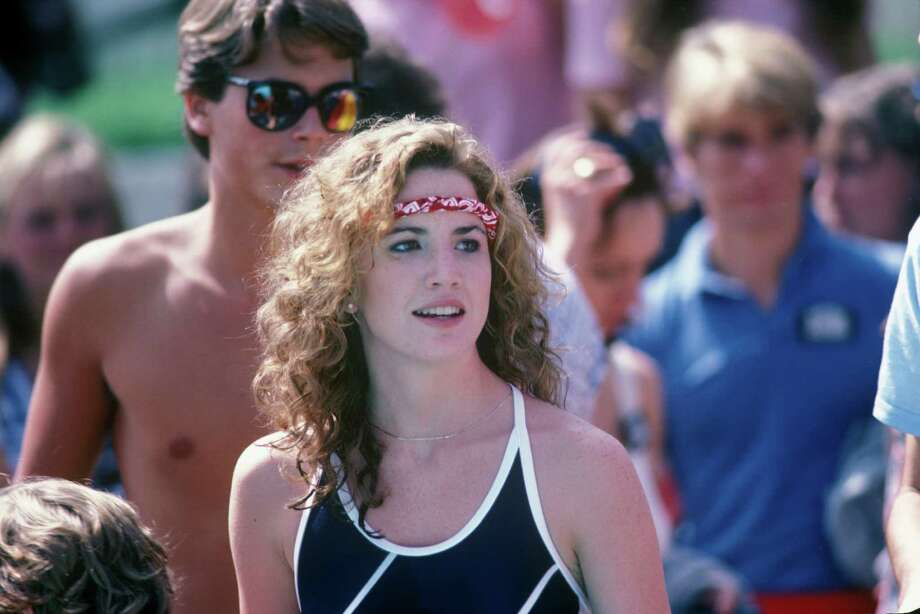 "Melissa Gilbert, 1982. (Photo: Competing in '80s headband on ABC's show ""Battle of the Network Stars"").   Photo: ABC, Getty Images / ©American Broadcasting Companies, Inc. All rights reserved. For editorial use only. NO ARCHIVING, NO RESALE."