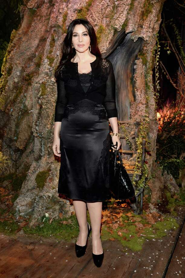Monica Bellucci, Feb. 23, 2014. (Photo: At the Dolce & Gabbana show of Milan Fashion Week).  Photo: Venturelli, Getty Images / 2014 Venturelli