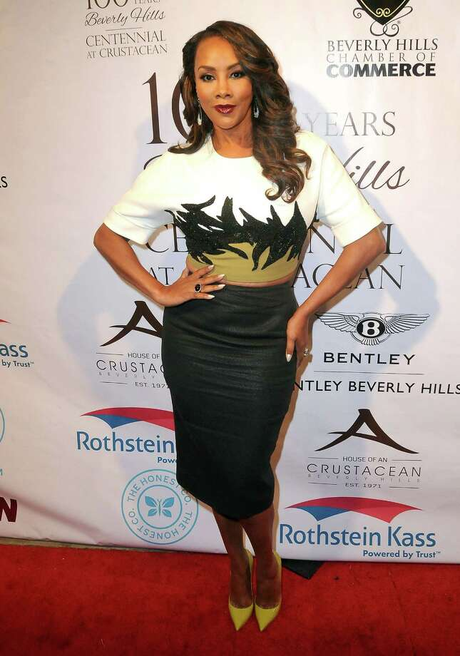 Vivica A. Fox. Birthday: July 30. (Photo: Beverly Hills Chamber of Commerce, February 5, 2014).  Photo: Barry King, Getty Images / 2014 Barry King
