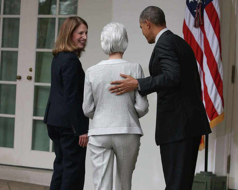 A reader contends the Express-News underplayed the announcement by President Barack Obama that he is nominating Sylvia Matthews Burwell (left) to replace Health and Human Services Secretary Kathleen Sebelius. Photo: Mark Wilson / Getty Images / 2014 Getty Images