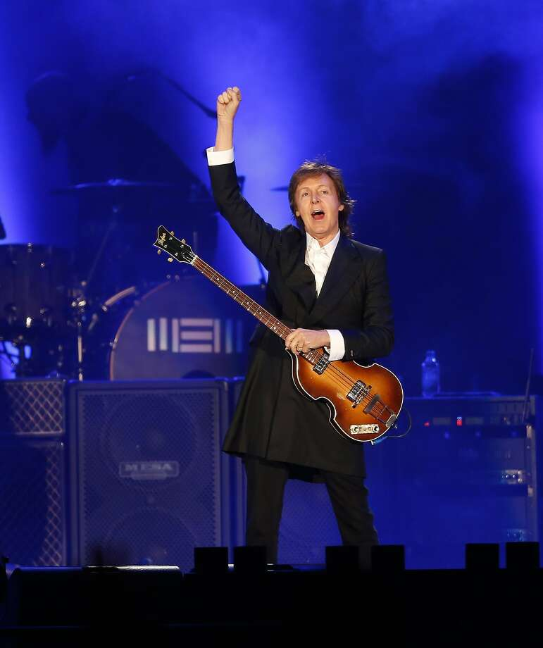 Paul McCartney performs in Montevideo, April 19, 2014. Photo: Andres Stapff, Reuters