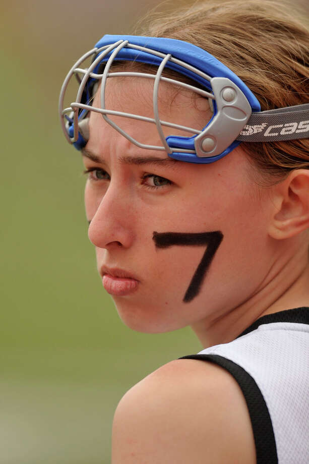 Stamford's Kirstin McLeod looks on from the sidelines during the Black Knights' game against Fairfield Warde at Stamford High School in Stamford, Conn., on Tuesday, April 22, 2014. Fairfield Warde won, 12-6. Photo: Jason Rearick / Stamford Advocate